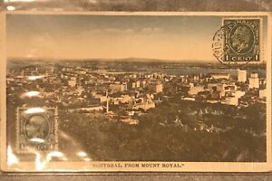 rppc-Postcard-1933-Montreal-From-Mount-Royal