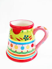 "Festin Coquin "" T-Creamer Pitcher"" Hand Painted Provencal Dinnerware/Decorative"