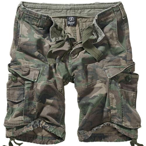Brandit Vintage Classic Militare Uomo Carico Combattere Militare Shorts Woodland