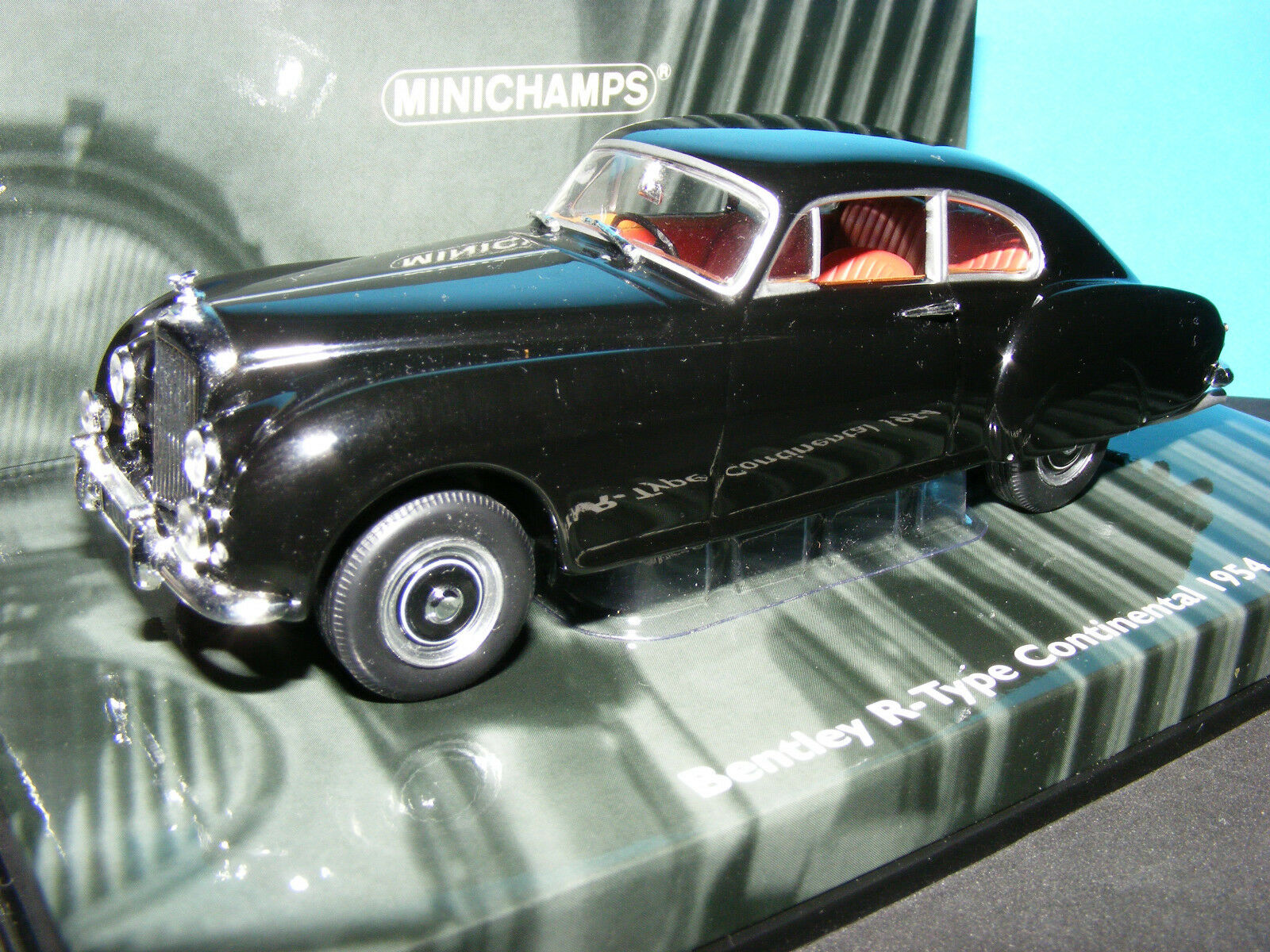 Bentley 'R' tipo continental en masones nero 1954 Minichamps Modelo Funda grande.