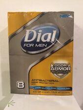 Dial For Men 3D Odor Defense Soap Bar, 8 Count - 32 oz. New