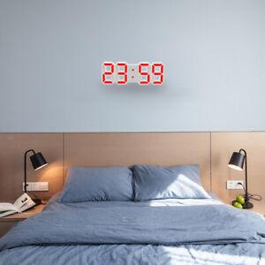 Détails sur Horloge Digitale Murale LED pour Chambre Salon Cuisine Bureau