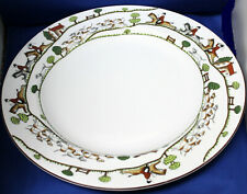 "Crown Staffordshire Hunting Scene 13 1/2"" Chop Plate Round Platter"