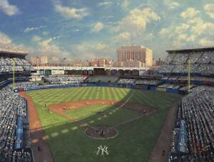 Thomas-Kinkade-YANKEE-STADIUM-Limited-Edition-18x24-Canvas-S-P-SIGNED