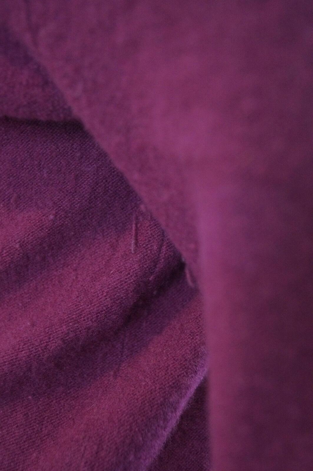 DKNY women KARAN Plum Pink Wool Cashmere Elasticated Waist Waist Waist Jumper Dress Sz L f7ba19