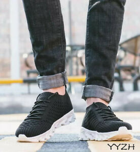 Men Women Breathable Lace Up Running Shoes Round Toe Casual Sneaker  Flats