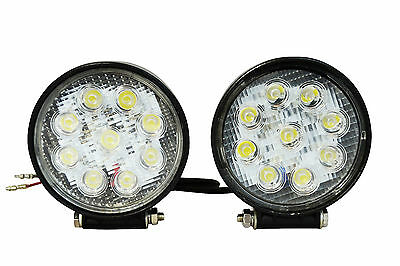 Pair of Very Bright 27W LED Spotlights for BMW R1150GS R1200GS & GS Adventure