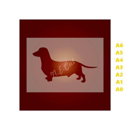 DACHSHUND Dog Stencil-Strong 350 micron Mylar not Hobby stuff #DOGS010