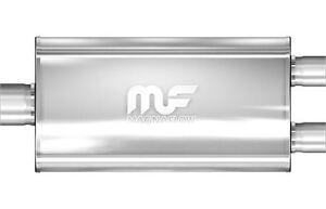Silencieux-universel-central-ovale-28p-72cm-dual-dual-3p-77mm-5x11-Magnaflow