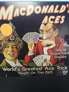 MACDONALD-ACES-DVD-SPECIAL-BICYCLE-CARDS-WORLD-039-S-GREATEST-ACE-TRICK-MAGIC