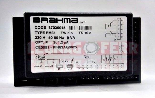SCHEDA ELETTRONICA ACCENSIONE BRAHMA 37030015 FM31 TW 5 TS 10 OPT. P