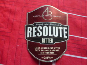 "ANDWELL BREWING "" RESOLUTE BITTER "" PLASTIC PUMP CLIP ( TV D4 ) TtAkIPOw-09093318-831373159"