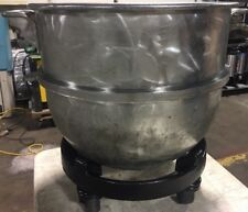 Hobart 60 Qt Steel Mixer Bowl With Hobart Bakers Aid Cast Iron Bowl Dolly