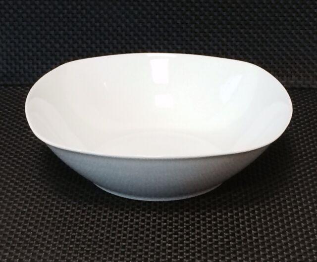 Schüssel Salatschüssel ca. 23cm eckig  weiß  Porzellan Schüssel  NEU