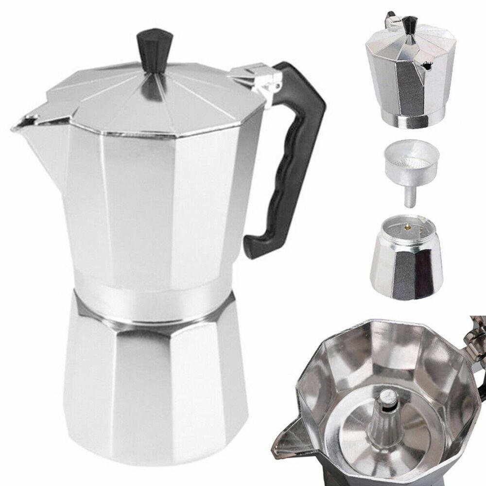 TH_ Top Moka Espresso Expresso Percolator 1cup/3cup/6cup Sto