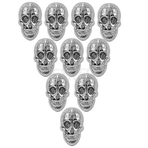 10 PCS Rétro Argent Crâne Rivet Rivets avec vis pour À faire soi-même Chaussures Sac Leather Craft