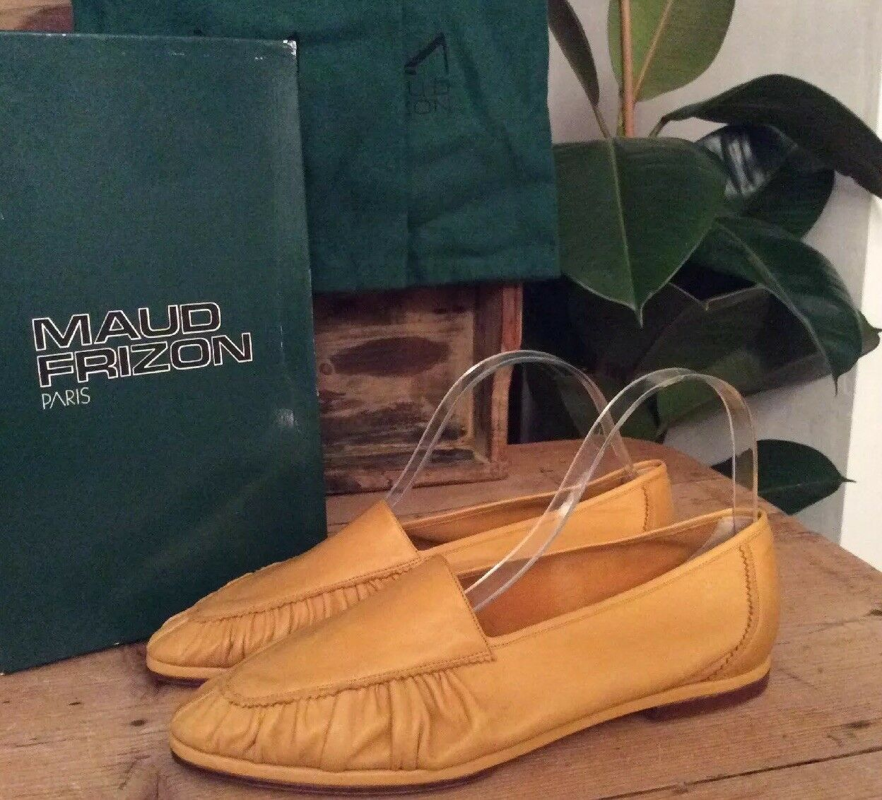 New In Box The Finest Finest Finest Nappa Leather Moccasins By Maud Frizon Size 6.5Uk 39.5EUR 06290e