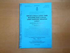 SA80/LSW. Operating information. SA 80 sa80