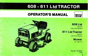 allis chalmers 608 611 ltd tractor operators manual part no 1676604 rh ebay com