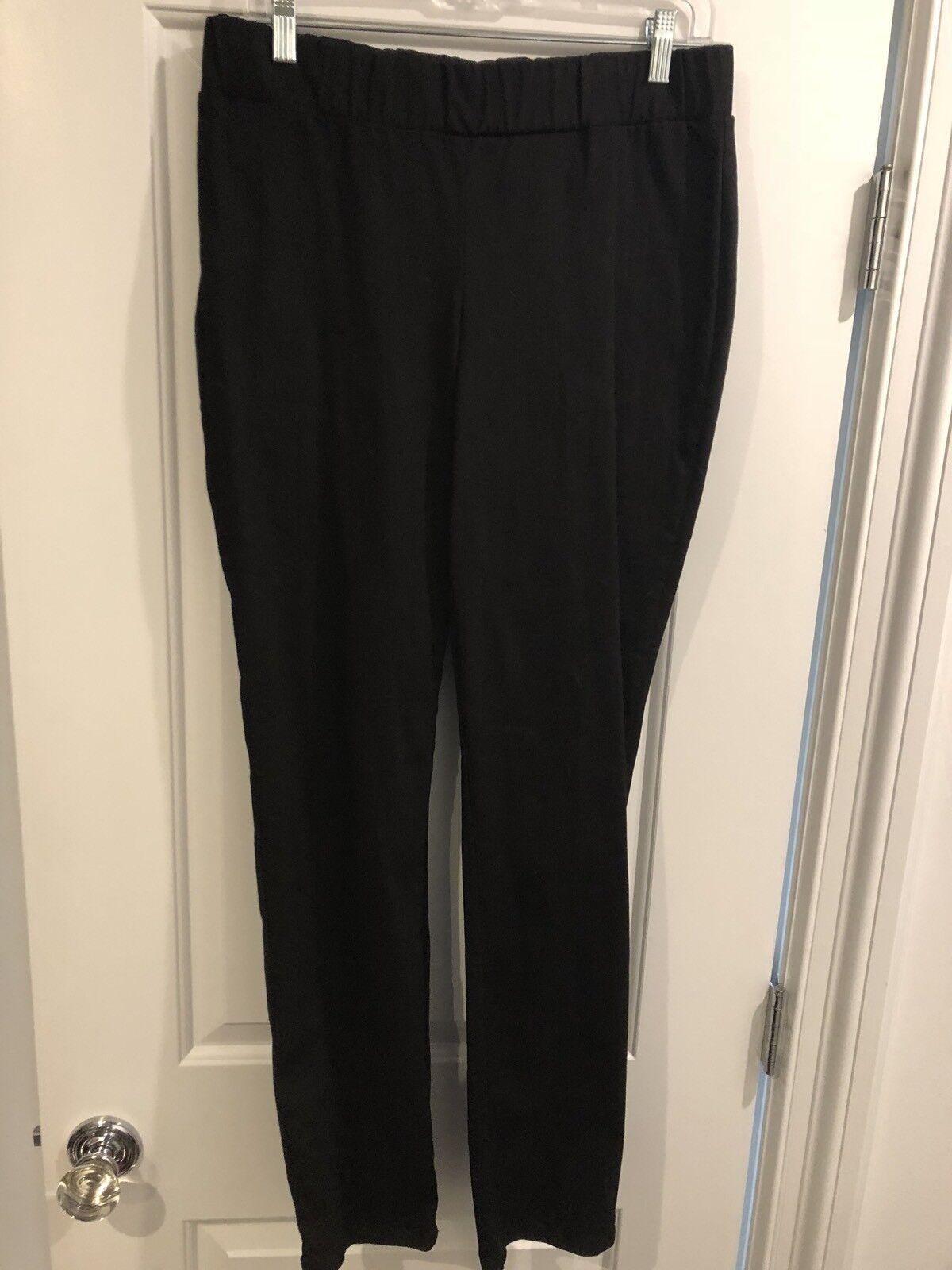New Cabi Stretch Elastic Waist Dark Skinny Jean Large L