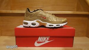 Nike Air Max Plus TN Metallic Gold 903827-700 GS Womens Mens Size 4Y ... 9a6127a234