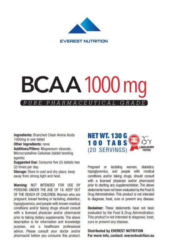BCAA 1000mg TABLETS PHARMACEUTICAL QUALITY ANTICATABOLIC REGENERATION