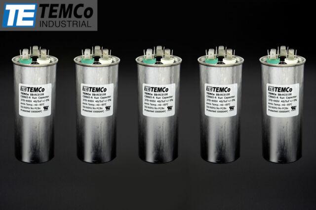 Oval  Run Capacitor 40 MFD 440v AC Motor HVAC 440 vac v volts 40 uf Lot 5