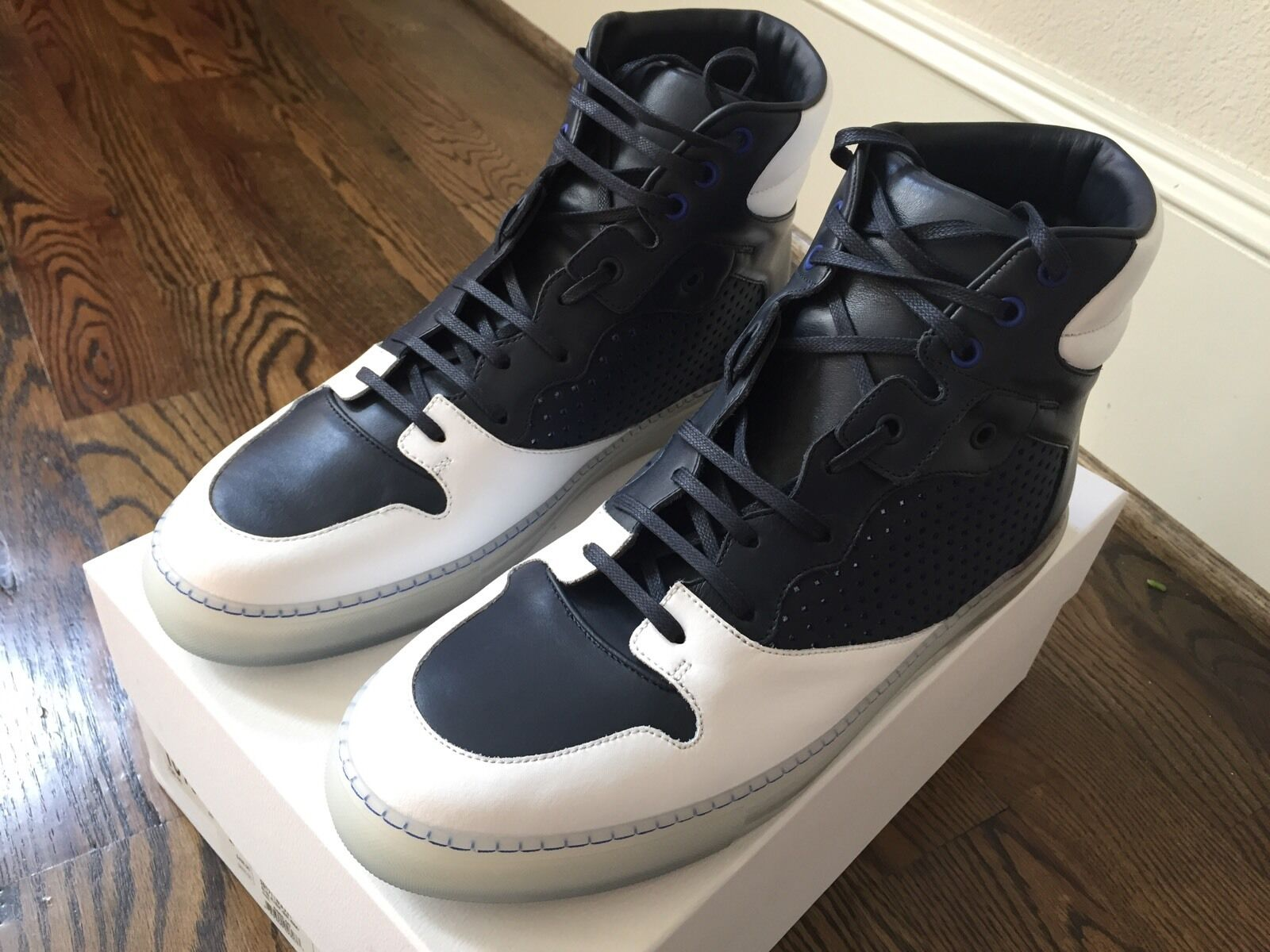 665  Balenciaga Pelle High Tops  size   14 or EU 47 Made in Italy