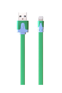 Flat-Lightning-USB-Ladekabel-gruen-fuer-Apple-iPhone-X-8-7-6-green-iPad-iPod-flach