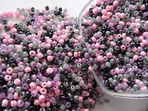LOT DE 500 PERLES DE ROCAILLE ROSE MAUVE Ø 4 mm 6//0 CREATION BIJOUX