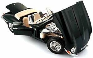 Jaguar-E-Tipo-1-18-Escala-Modelo-Diecast-Metal-Modelos-Coche-de-Juguete-en-Miniatura-Verde