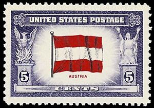 US Postage PHOTO MAGNET  Flag of POLAND 1943-44 5 cents NOT A REAL STAMP