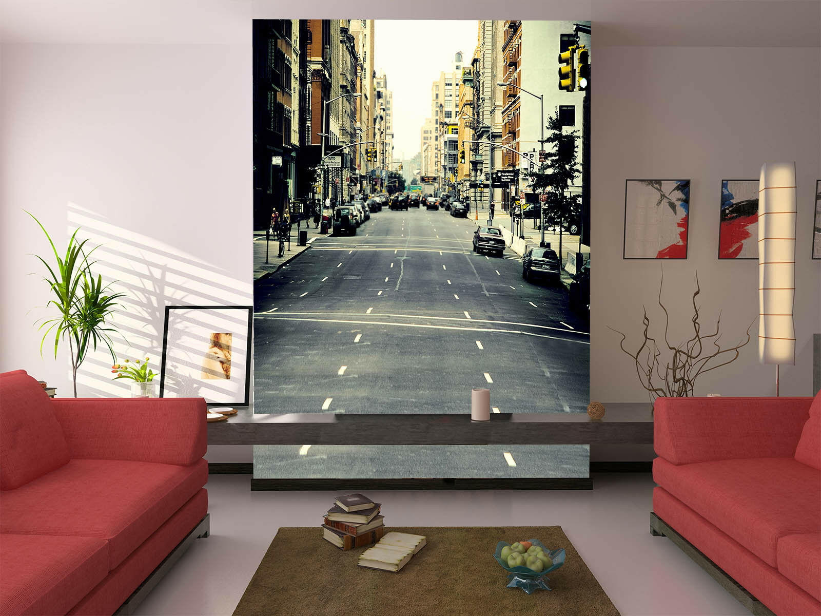 3D City Car Street 45 Wall Paper Wall Print Decal Wall Deco Indoor Mural Summer