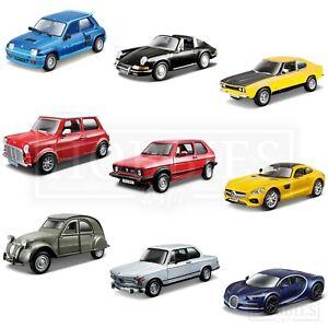 Bburago-1-32-Classic-Diecast-Model-Cars-Ford-Capri-Porsche-BMW-Citroen-Mini-Golf