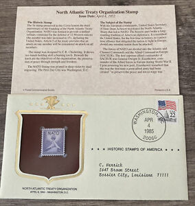 Historic Stamps of America - NATO NORTH ATLANTIC TREATY ORGANIZATION
