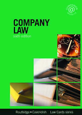 Company Lawcards 6/e: Sixth edition, Routledge, Used; Good Book