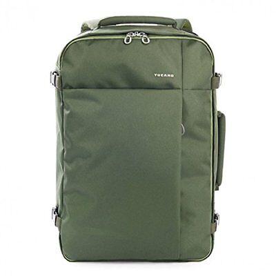 "Tucano Travel Backpack Zaino Da Viaggio 38,5 L Notebook Laptop Macbook 17,3"" Olive-"