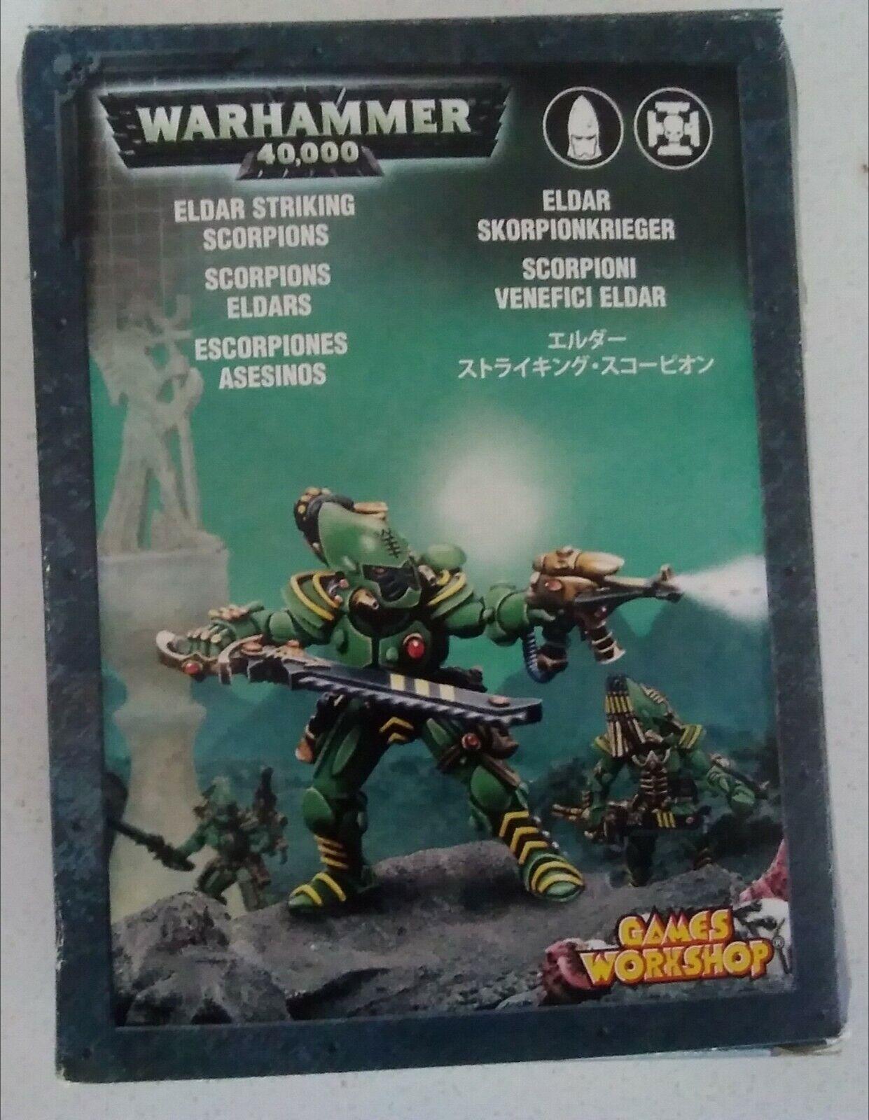 6 x Warhammer 40K Eldar Striking Scrorpions OOP Metal 2000s