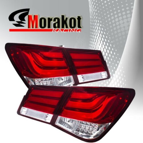 Chevy Cruze 08-10//11-15 LEDS Rear Brake Stop Tail Light lamp  Red Clear Lens