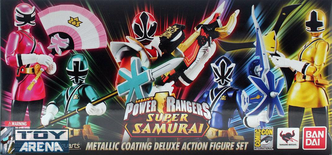 Bandai Tamashii S.H. Figuarts Power Rangers Super Samurai Metallic Set SDCC 2013