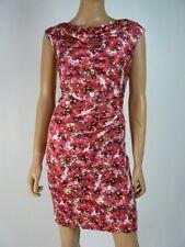 Ann Taylor White Black Hammered Satin Cowl Neck Sheath Dress 8 Petite NEW A593