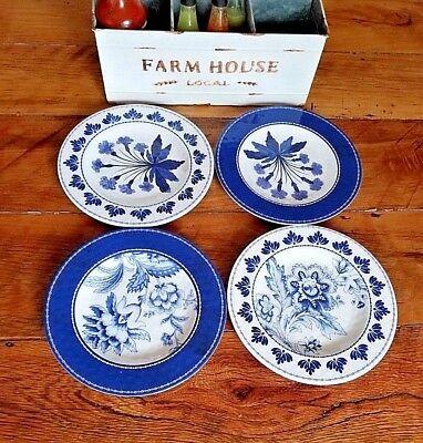 S//4 Williams Sonoma Aerin Fairfield Melamine Salad Plates Set NEW