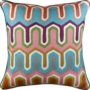 Decorative Pillow Cover Handembroidered
