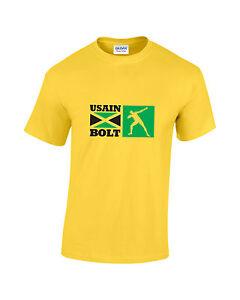 Usain-Bolt-Jamaican-Flag-Athletics-Mens-Printed-T-Shirt
