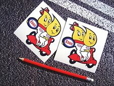 ESSO Flame People Couple On Scooter classic style Stickers  Retro Vintage f1