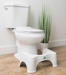 Squatty Potty Ecco 7 Inch White Natural Squat Toilet Stool Ship Ebay