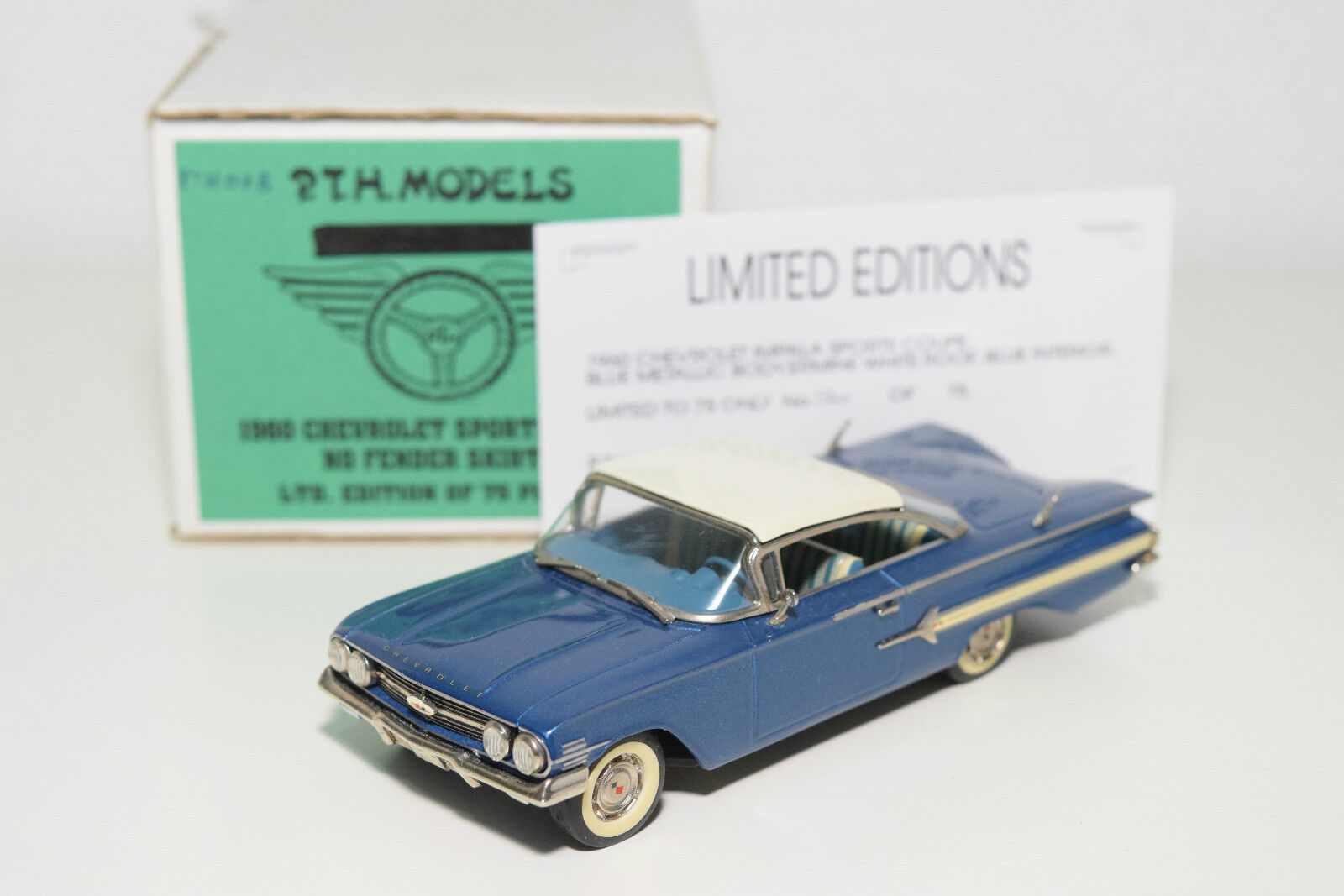 . S.A.M.S SAMS P.T.H. MODELS CHEVROLET SPORTS COUPE MET. blueE MINT BOXED RARE