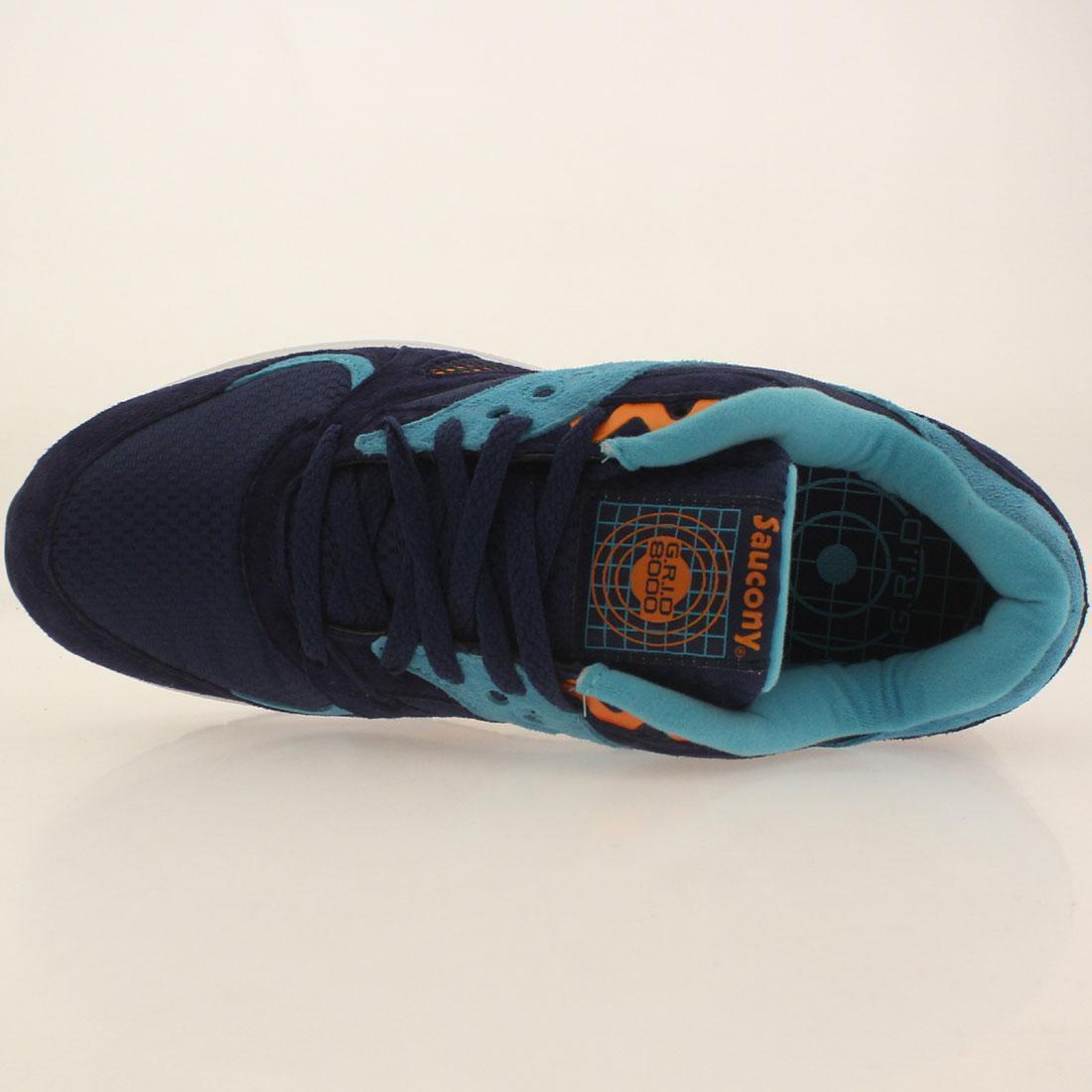 Saucony 8000 CL Navy Light Blau Weiß Mens Running schuhe
