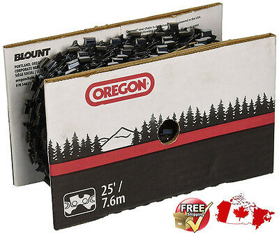 25 foot roll 75RD025U Oregon chainsaw Ripping chain 3//8 pitch .063 gauge 25/'
