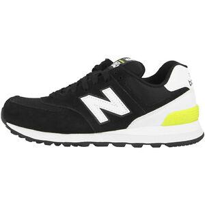 Details zu New Balance WL 574 CNA Women Schuhe black white hi lite WL574CNA  Damen Sneaker
